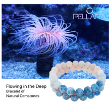 Load image into Gallery viewer, Gemstone Bracelet, Flowing in the deep by Pellara. Made of Apatite, Larimar, Morganite & Jasper. Birthstone gift for Leo, Virgo, Scorpio & Pisces zodiacs