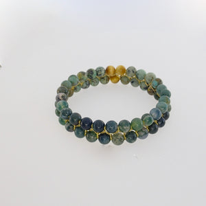 Gemstone Bracelet, Happy prince by Pellara. 6mm & 8mm. Birthstone gift for Leo, Virgo, Scorpio & Gemini zodiacs.