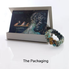 Load image into Gallery viewer, Gift package of Gemstone Bracelet, Happy prince by Pellara. Made of Agate, Turquoise & Tiger Eye. Birthstone gift for Leo, Virgo, Scorpio & Gemini zodiacs.