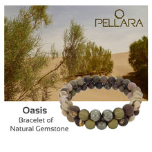 Load image into Gallery viewer, Gemstone Jewellery set by Pellara, Oasis, made of Pyrite, Smoky Quartz, Jasper & Tiger eye. 6, 8 & 10mm. The Crown, Third eye, Sacral & Navel chakra