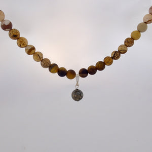 Gemstone Jewellery set by Pellara, Oasis, made of Pyrite, Smoky Quartz, Jasper & Tiger eye. 6, 8 & 10mm. The Crown, Third eye, Sacral & Navel chakra, Aromatherapy