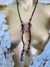 Load image into Gallery viewer, Necklace Plaited Hemp with clay heart necklace