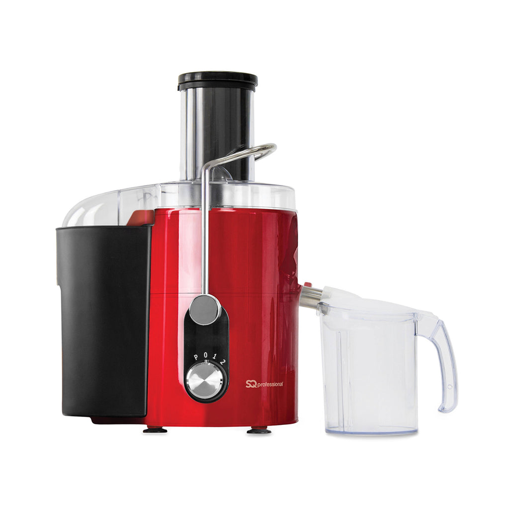 Presse-fruit éclair - Extracteur de jus de fruits entiers, 800 W, Rouge