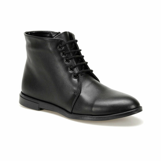Women's Black Leather Boots