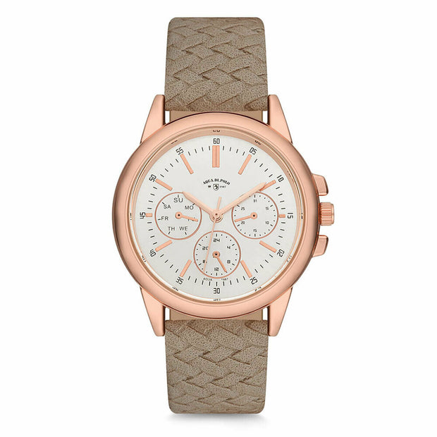 Women's Sand Beige Strap Watch