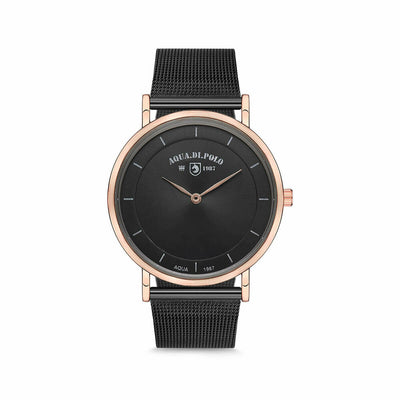 Unisex Black Metal Straw Watch