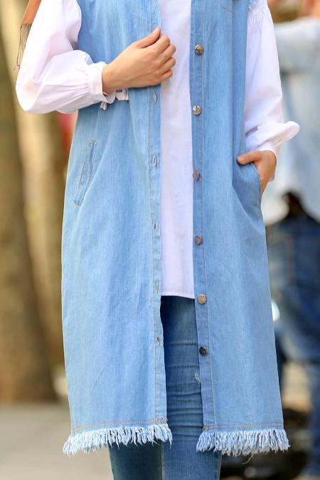 Long Denim Vest