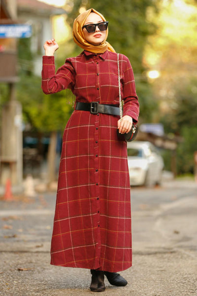 Plaid Maxi Dress