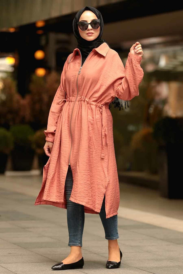 Zipper Dark Salmon Tunic