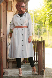 Belted Button Coat