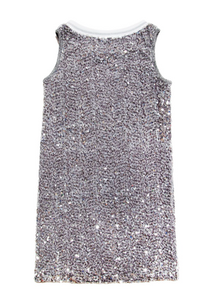 Lux Sequin Dress Gray