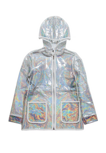 Holographic Raincoat Clear