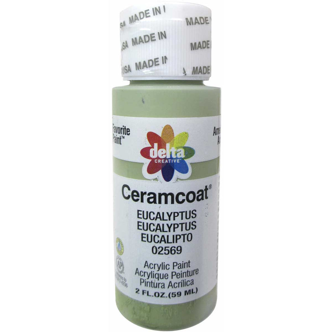CERAMCOAT Acrylic Paint 59ml 2floz - Eucalyptus