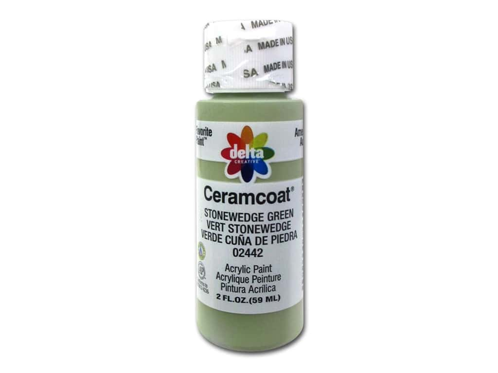CERAMCOAT Acrylic Paint 59ml 2floz - Stonewedge Green