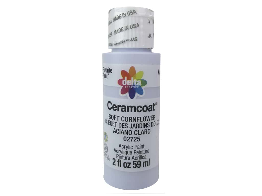 CERAMCOAT Acrylic Paint 59ml 2floz  - Soft Cornflower