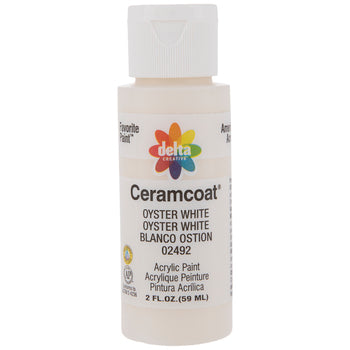 CERAMCOAT Acrylic Paint 59ml 2floz - Oyster White