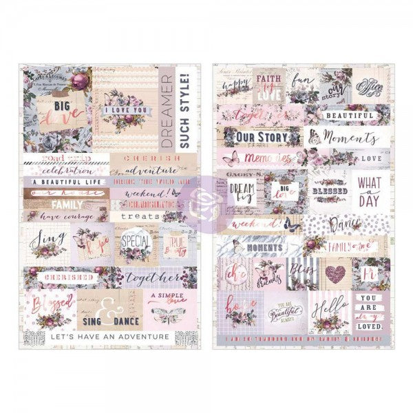 PRIMA Lavender Stickers 55 pc