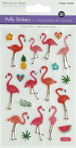 MULTICRAFT FOREVER IN TIME - Puffy Stickers 3D Flamingos