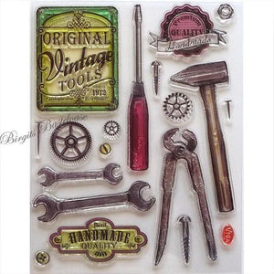 Viva Clear Stamp Set - Vintage Tools