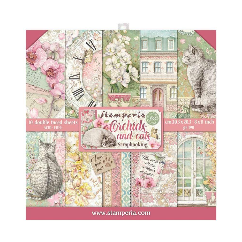 8x8 Paper pack STAMPERIA - Orchids and Cats