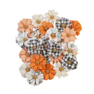 Prima Flowers -Pumpkin and Spice 24pc 648374