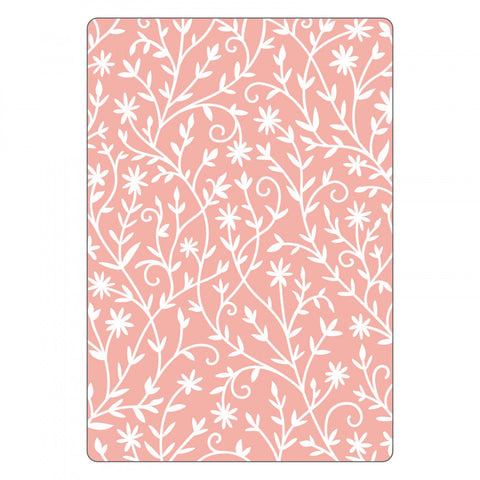 SIZZIX 3D Texture Impressions Embossing Folder - Flower Embellishments