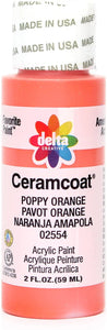 CERAMCOAT Acrylic Paint 59ml 2floz  - Poppy Orange