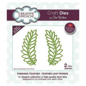CREATIVE EXPRESSIONS  Craft Dies by Sue Wilson - Feather Leaf Rounds 2pc