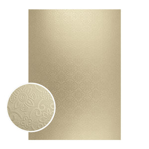Couture Creations - Mirror Board Matte Gold Damask Foil .10 pc