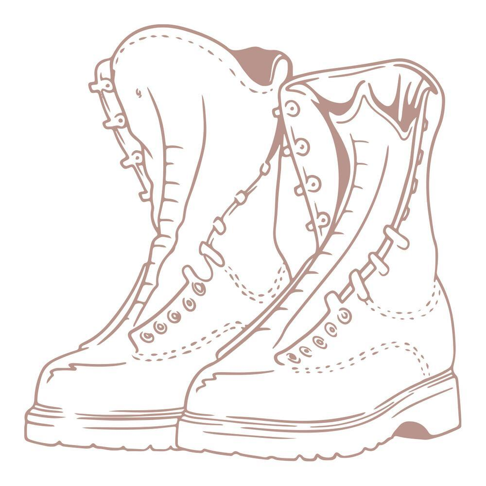 "COUTURE CREATIONS -  Acrylic Stamp.""Boots""."