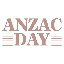 "COUTURE CREATIONS -  Acrylic Stamp.""Anzac Day""."
