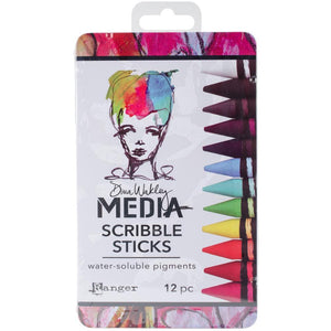 RANGER Dina Wakley Media Scribble Sticks 12pc -  MDA54733