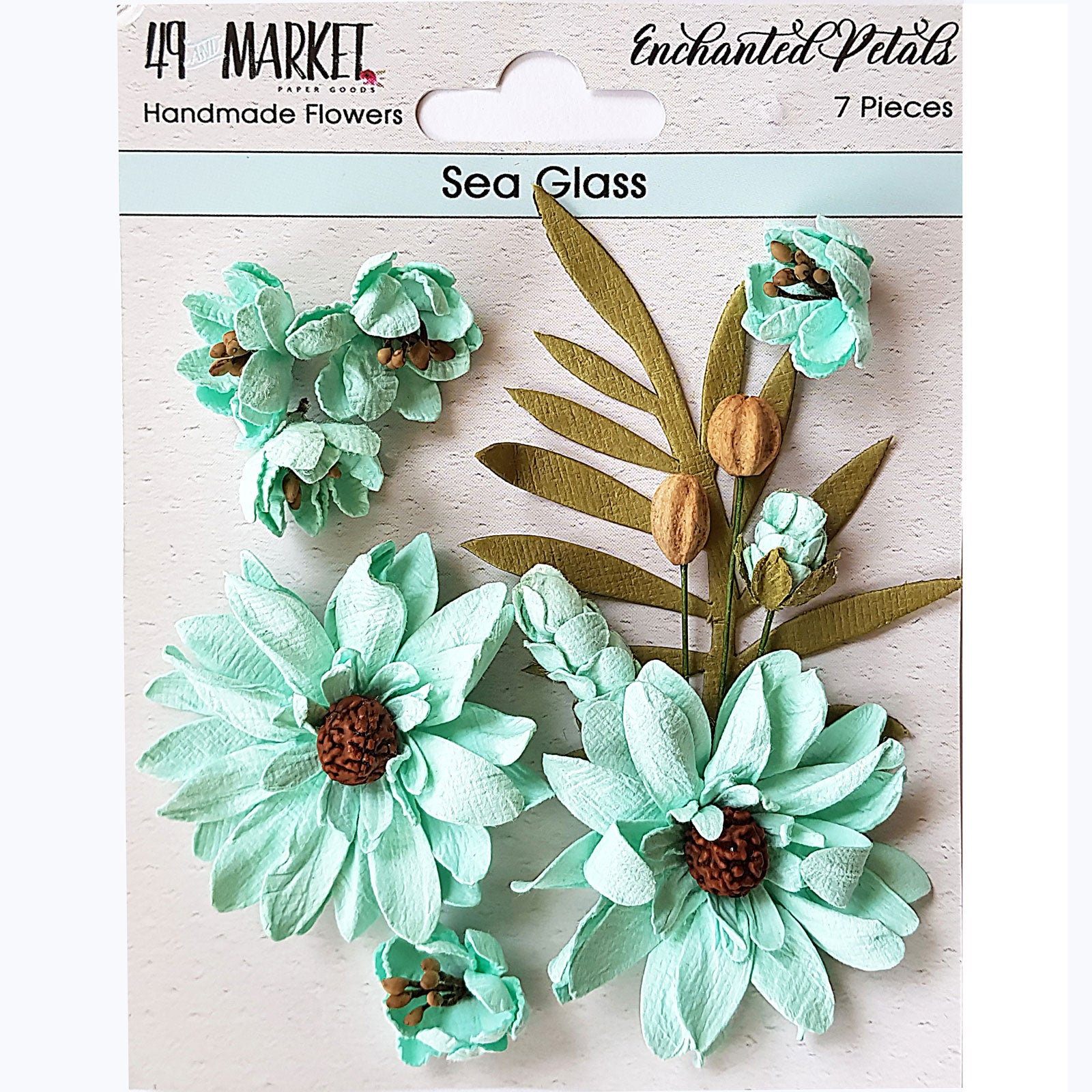 49&Market Enchanted Petals - Sea Glass