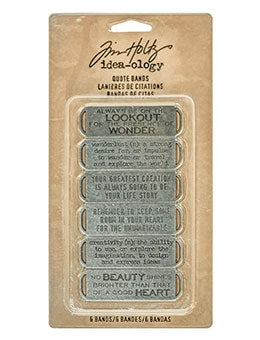 Tim Holtz Idea-ology Quote Bands