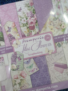 STAMPERIA - Lilac Flowers paper pack