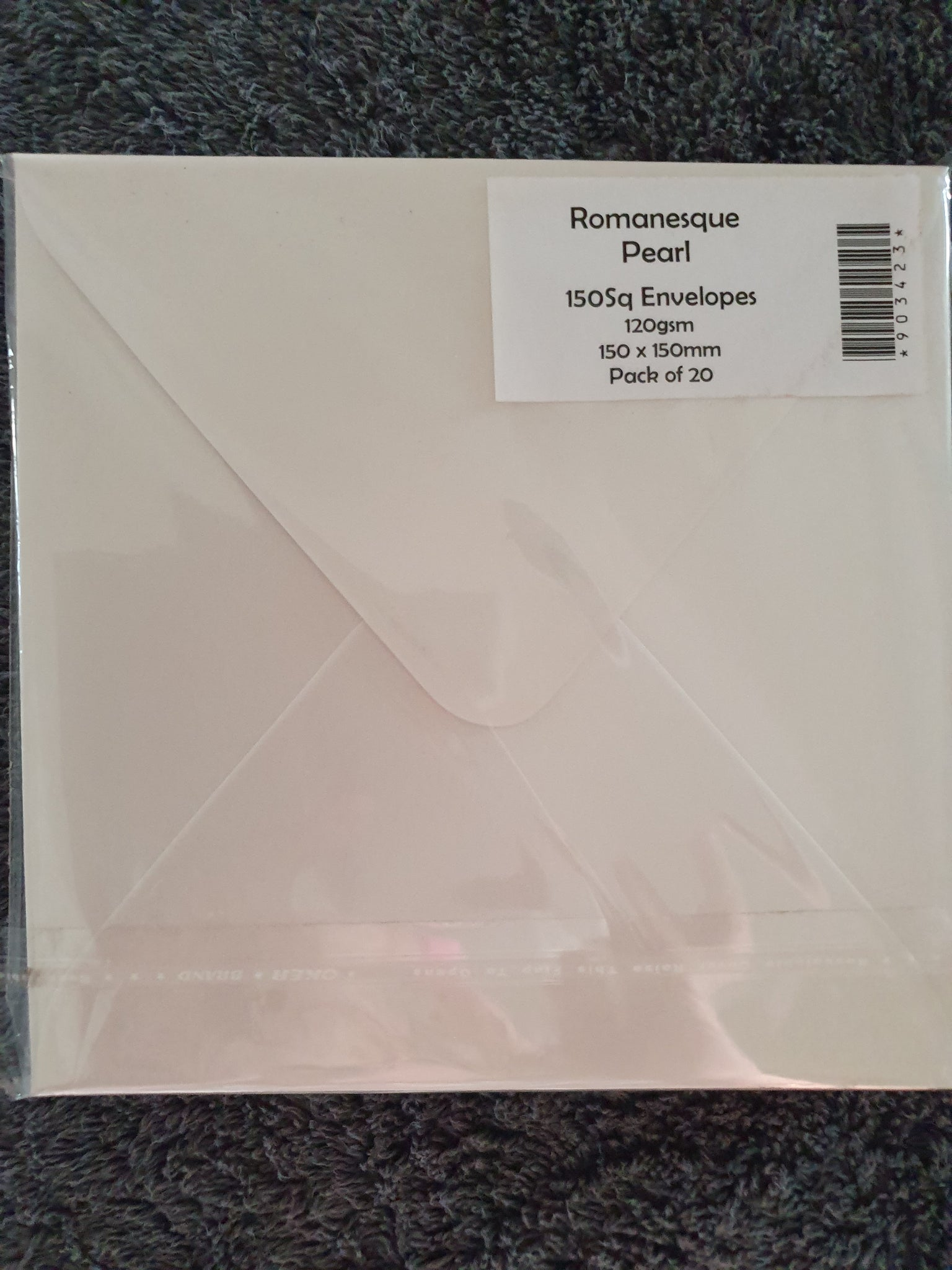 House of Paper 150sq Romanesque Pearl Envelopes  20pkt