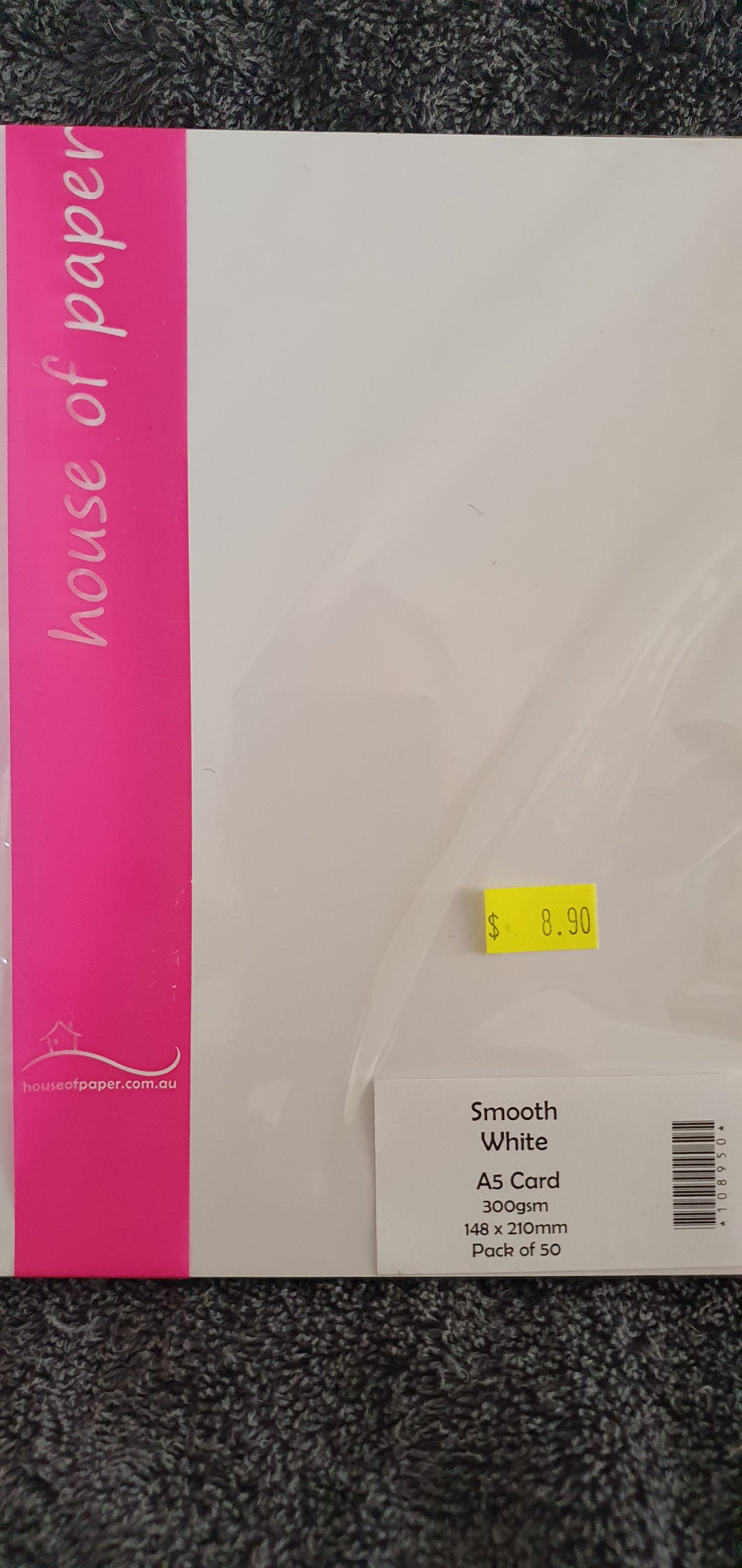 House of Paper A5 Smooth White Card Stock pack of 50