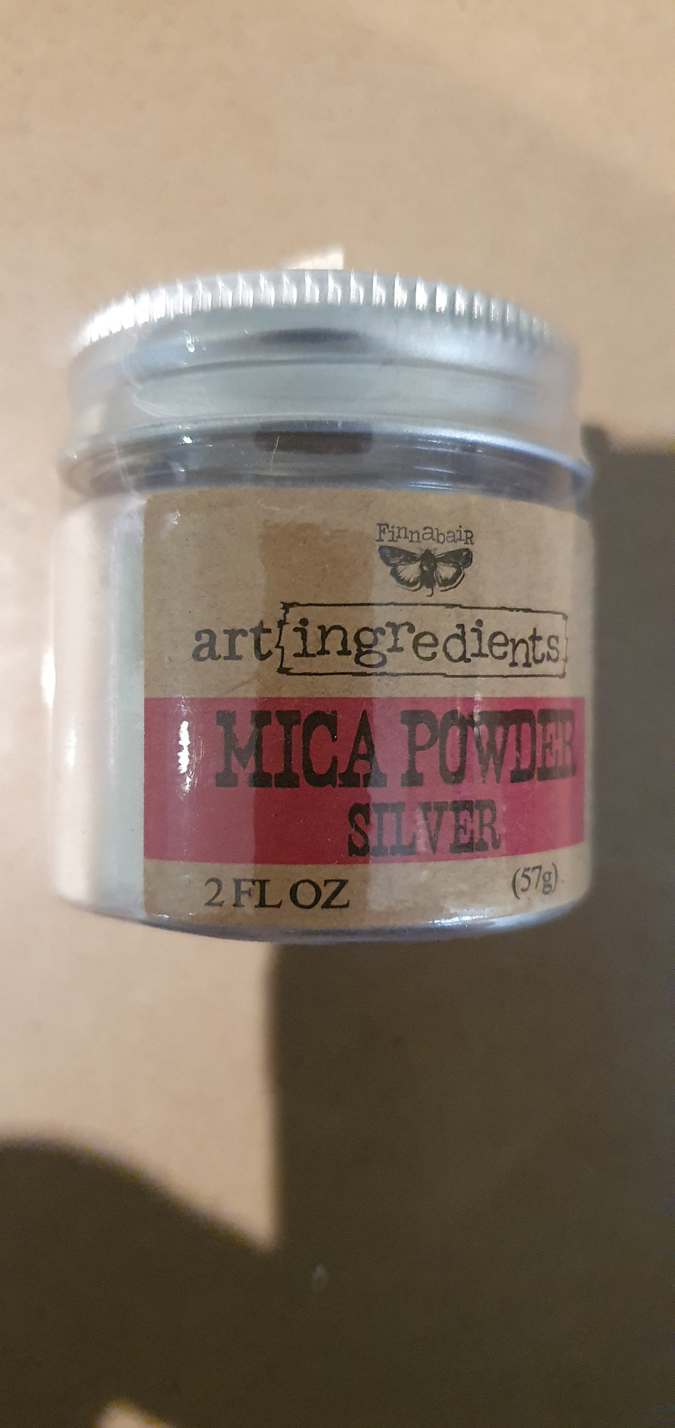 FINNABAIR Art Ingredients Mica Powder - Silver