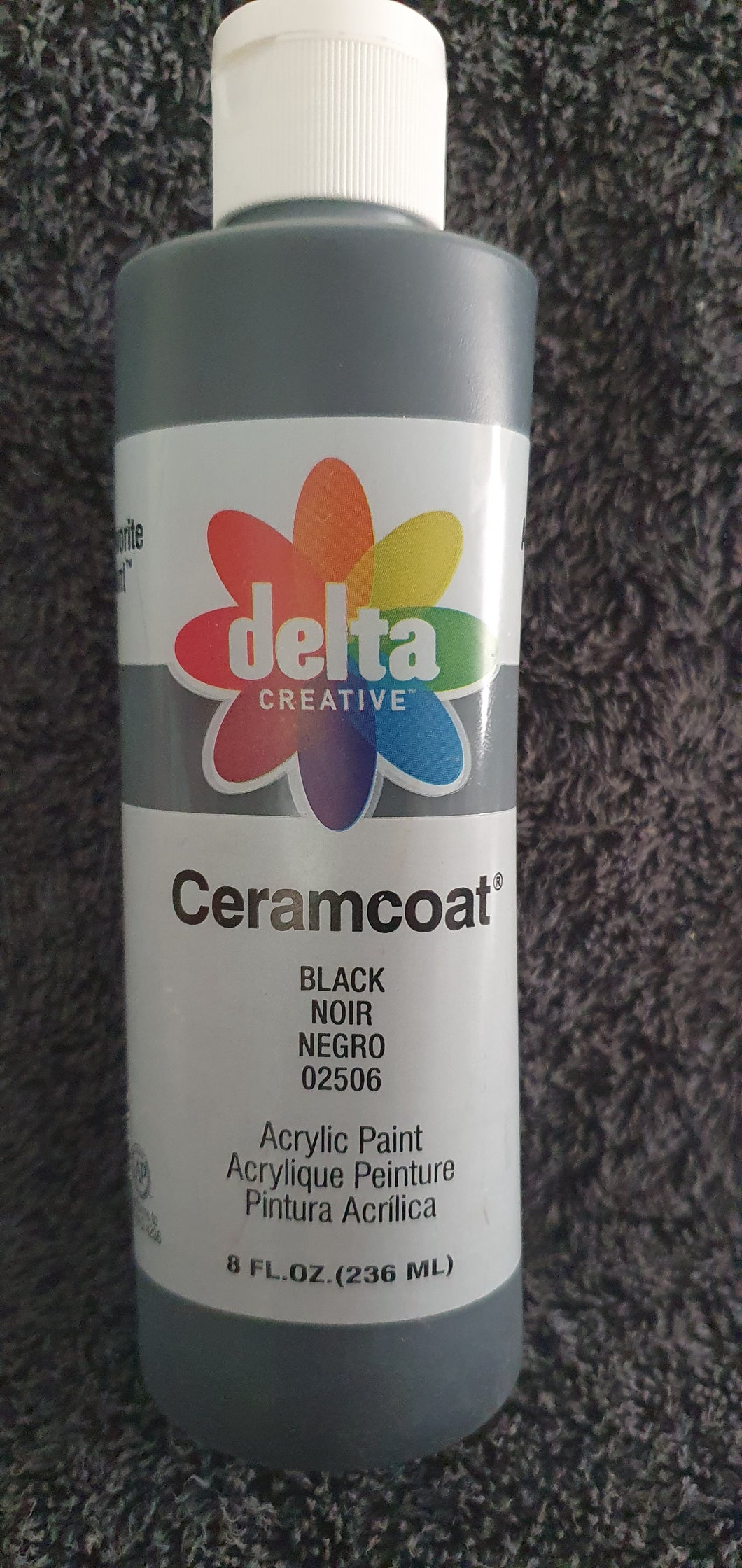 CERAMCOAT Acrylic Paint - Black 236ml