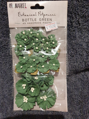 49 and MARKET Botanical Potpourri - Bottle Green