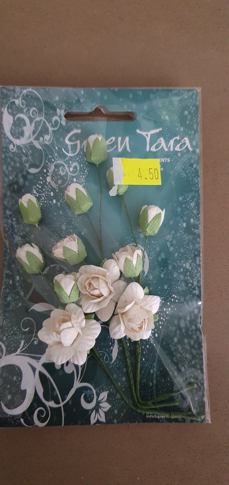 GREEN TARA Flowers - Rose and Rosebud Spays