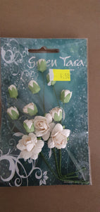 GREEN TARA Flowers - Rose and Rosebud Sprays