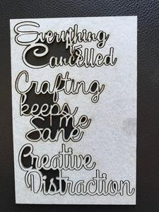 2CRAFTY Covid-19 Chip Board Series - Everything Is Cancelled