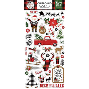 Lumberjack Christmas -  Adhesive Chipboard Accents. Echo Park