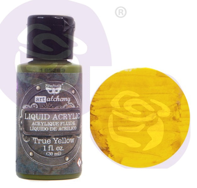 FINNABAIR Art Alchemy Liquid Acrylic Paint - True Yellow