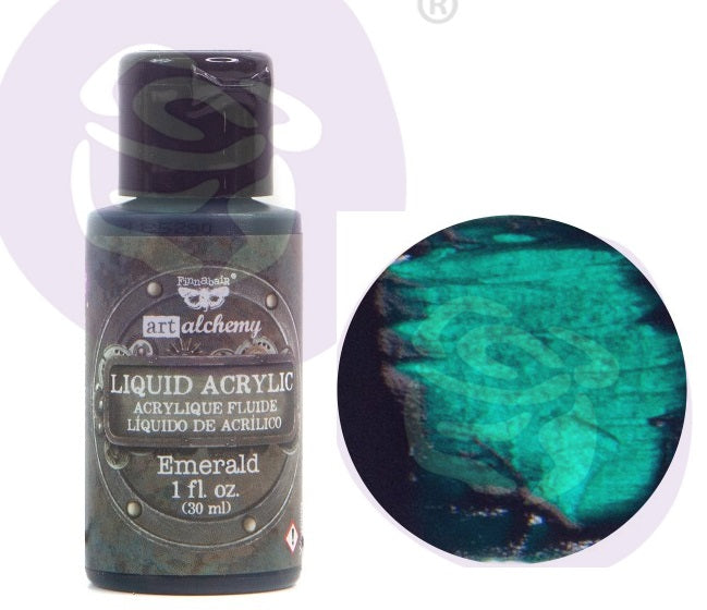 FINNABAIR Art Alchemy Liquid Acrylic Paint - Emerald