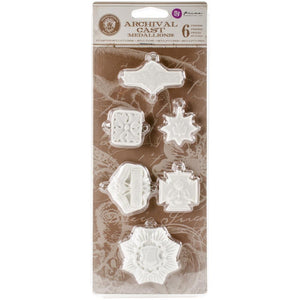 PRIMA  Archival Cast - Medallions 6pc