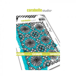 "Carabelle Studio Stamp ""Blooms and Circles Pattern"""