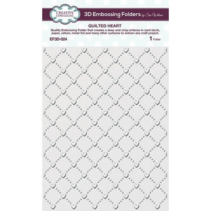 CREATIVE EXPRESSIONS Embossing Folder by Sue Wilson - Quilted Heart