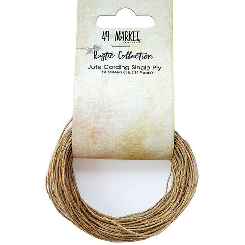 49 and MARKET - Rustic Collection Jute Cording 1ply - 14mtrs